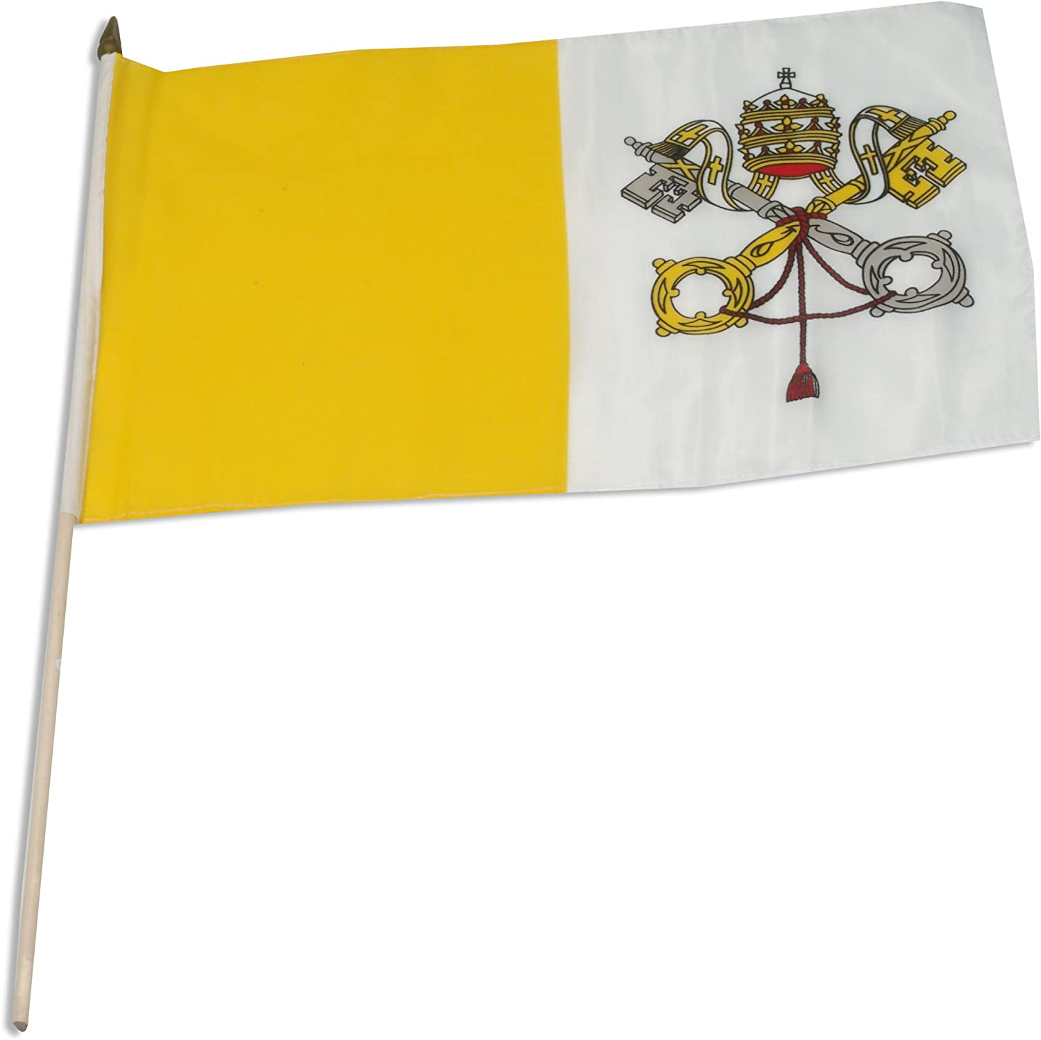 US Flag Store Vatican City Flag, 12 by 18-Inch