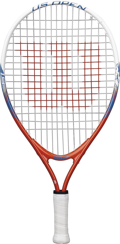 Wilson Raqueta de tenis para niños, Para juegos en todas las áreas, US Open, Blanco/Azul