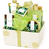 Spa Luxetique Bath Spa Gift Baskets for Women, Deluxe 10pc Gift Baskets for Women, Green Tea Fragrance Spa Gift Sets Includes