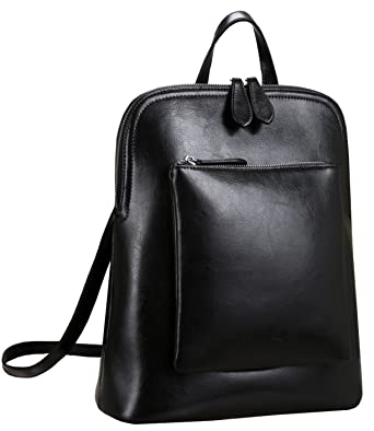 Amazon.com: Heshe Women's Vintage Leather Backpack Casual Daypack ...