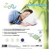 ZenPur Oreiller Premium + Housse en Viscose de Bambou Bio Anti-Acariens 45x45cm.
