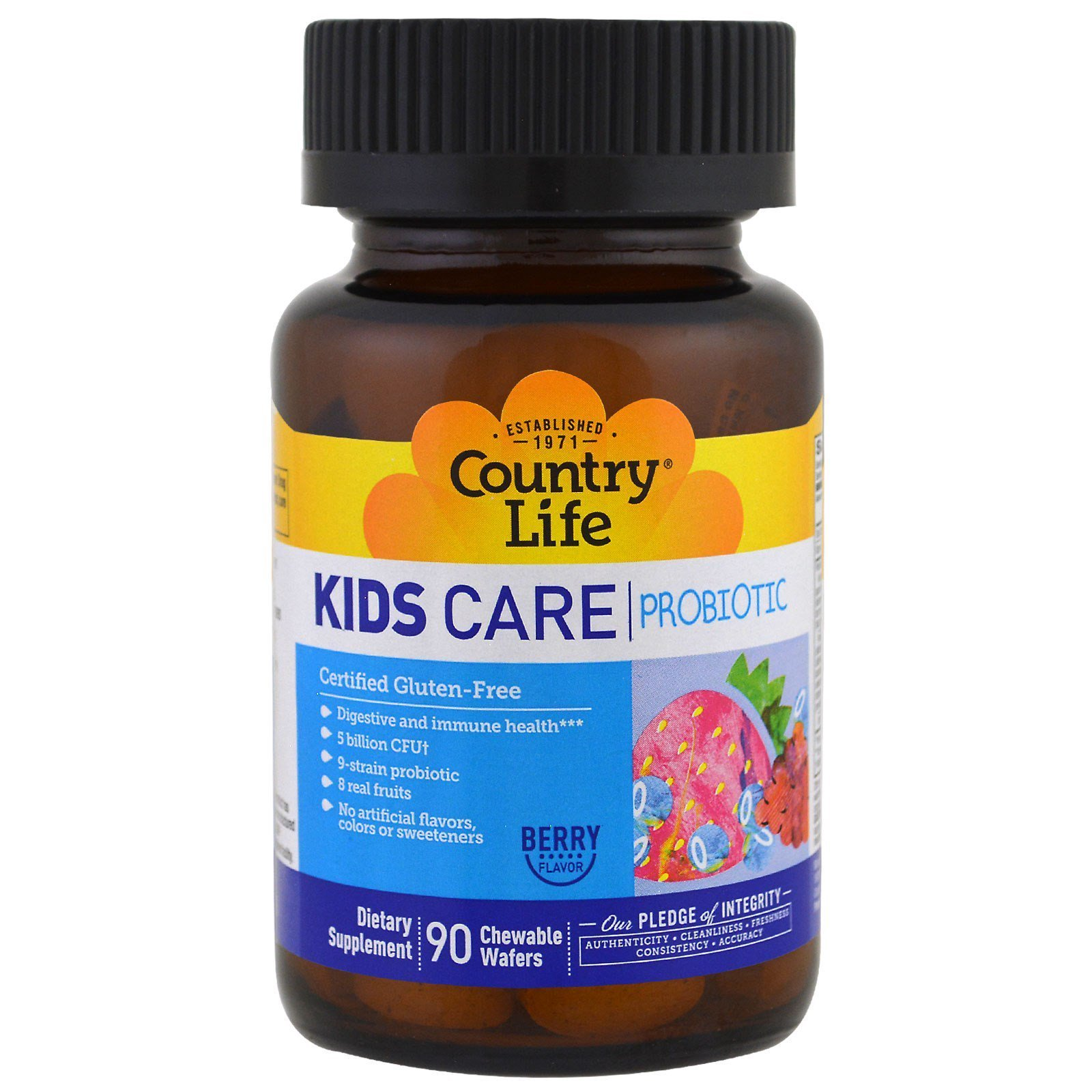 Kids Care Probiotic Country Life 90 Chewable