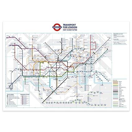 Amazon.com: stika.co Standard London Underground Tube Station Map ...