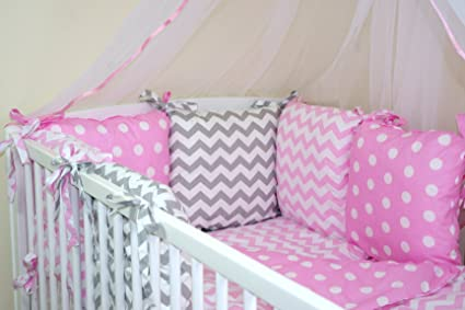 Baby/'s Comfort 12 PCS BABY BEDDING SET with PILLOW BUMPER for cot cotbed