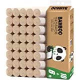 Bamboo wood pulp 4 layers hotel toilet paper roll paper, tissue paper, hollow roll paper, core roll paper towel (32 rolls)