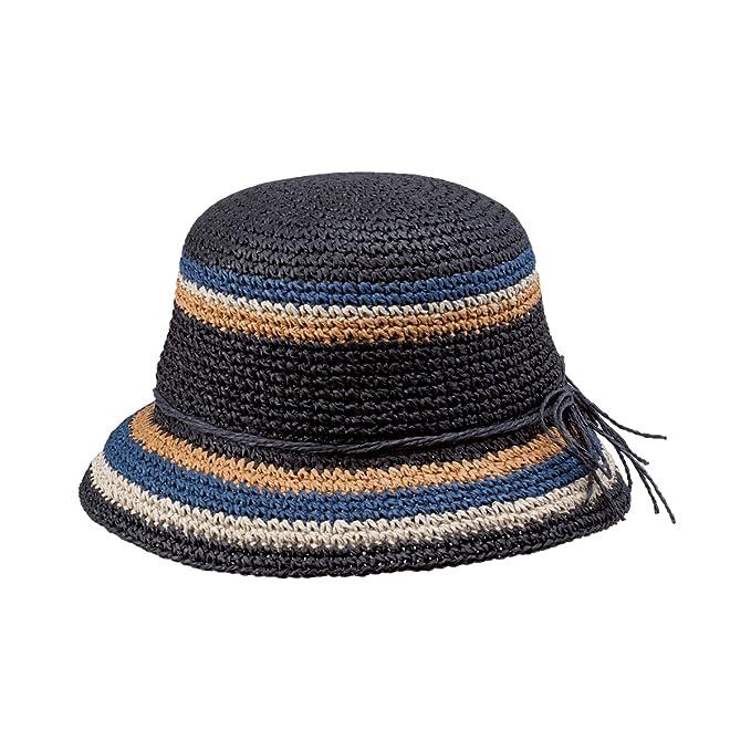 NEW PETER GRIMM NADINE NATURAL FIBER HAND WOVEN BREEZER BUCKET HAT (BLACK) dee164b53b27