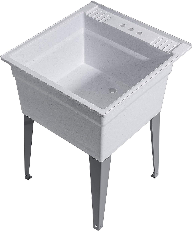 Cashel Heavy Duty Sink (Essential Sink Kit - Steel Leg - Granite)
