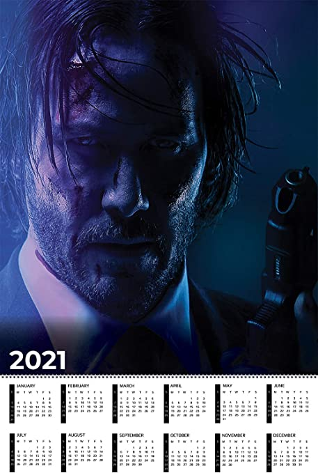 Amazon.com: John Wick Calendar 2021 Movie Poster Wall Decor   17