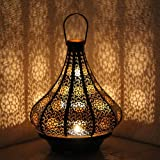 orientalische lampe pendelleuchte schwarz malha 50cm e14. Black Bedroom Furniture Sets. Home Design Ideas