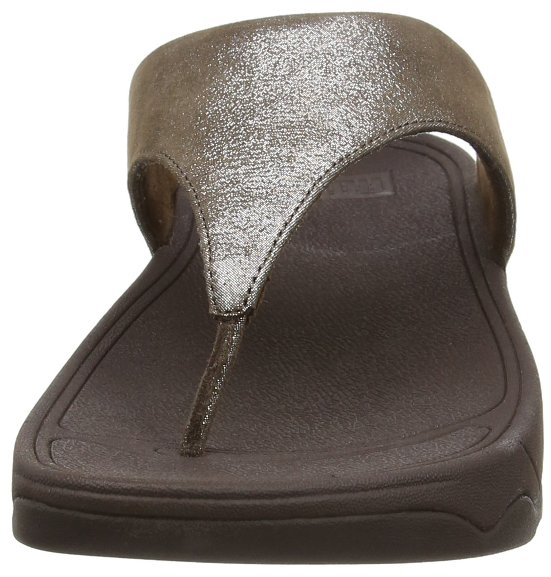 FitFlop Women's Lulu Shimmersuede Flip Flop, Bronze, 9 M US by FitFlop (Image #4)