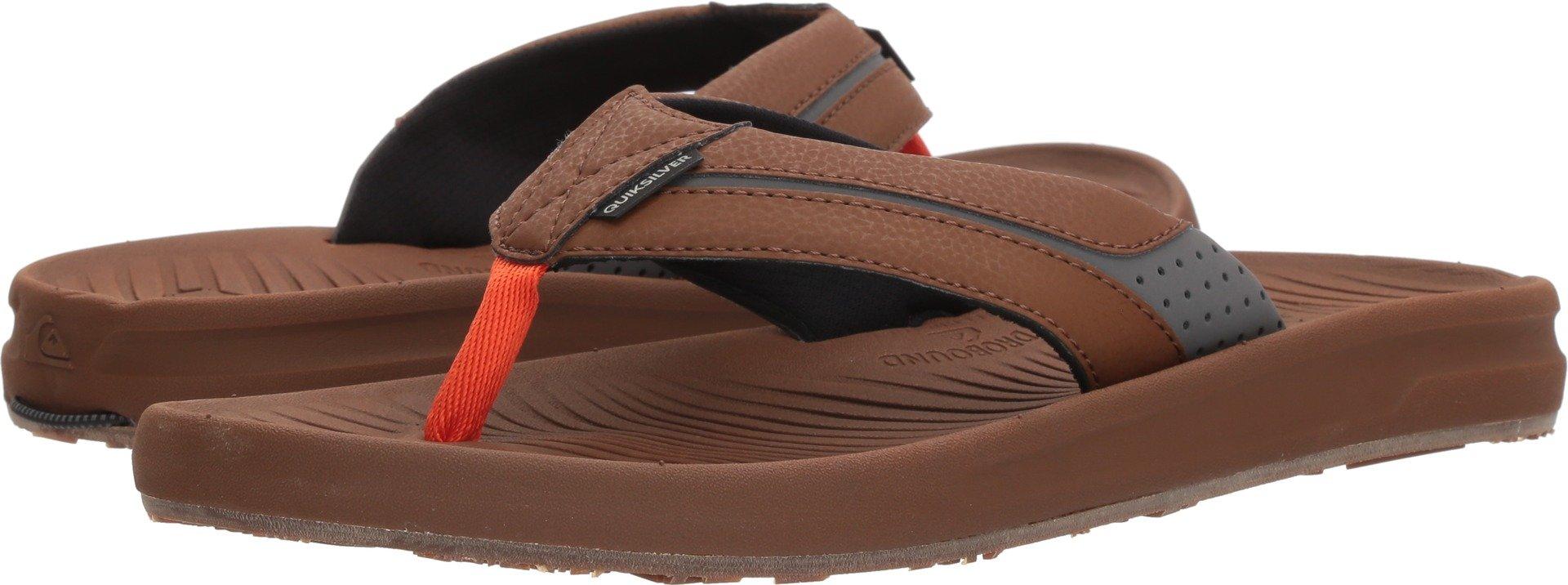 Quiksilver Men's Travel Oasis Sandal, Brown/Brown/Orange, 8 M US