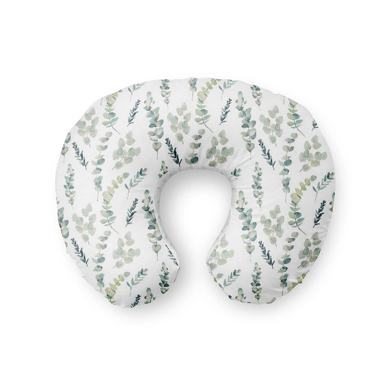 Nursing pillow Cover Eucalyptus Bohemian Boho white green baby nursery