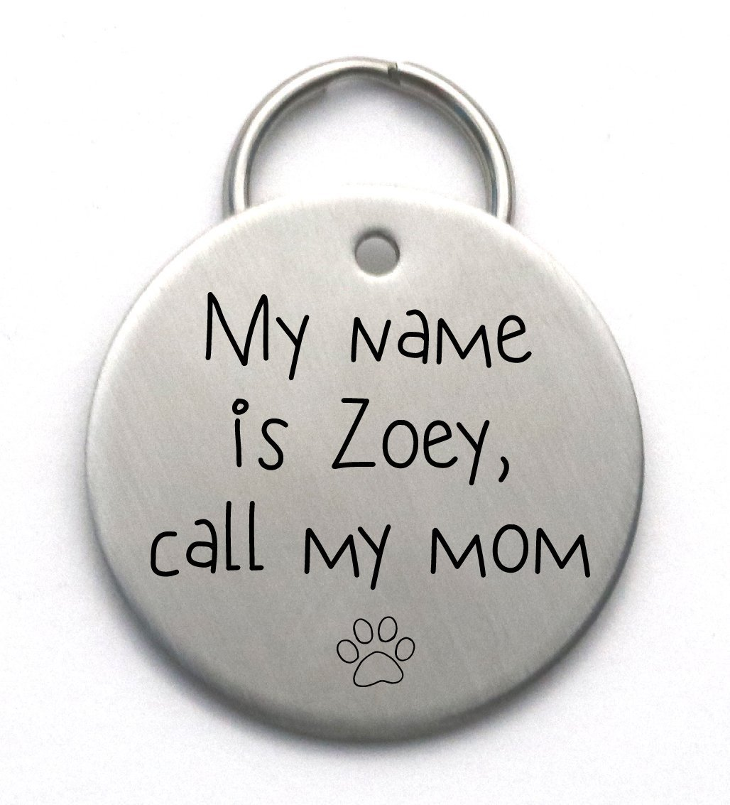 Call My Mom Dog Tag - Unique Metal Pet ID