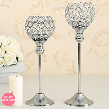Vincigant crystal candlestick holders home kitchen candle vincigant crystal candlestick holders home kitchen candle holders set for valentines wedding dining room accessories junglespirit Images