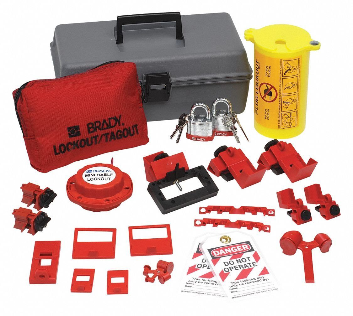 Brady Electrical Lockout Toolbox Kit, Includes Steel Padlocks and Tags by Brady