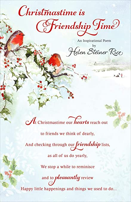 Image Unavailable. Image not available for. Color: Christmastime Is Friendship Time By Helen Steiner Rice ...