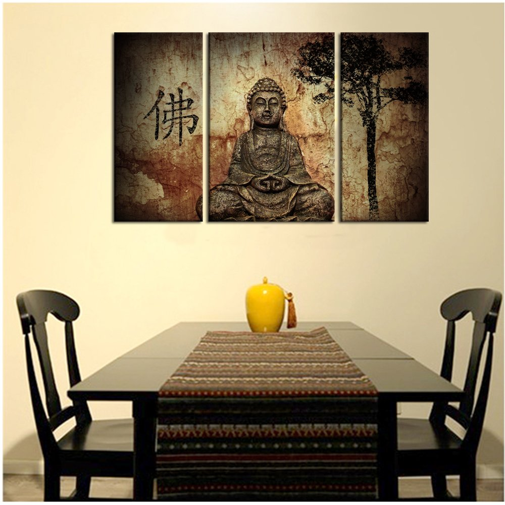 Amazon.com: Visual Art, Buddhist Love, 3pcs Framed and Ready Wall ...