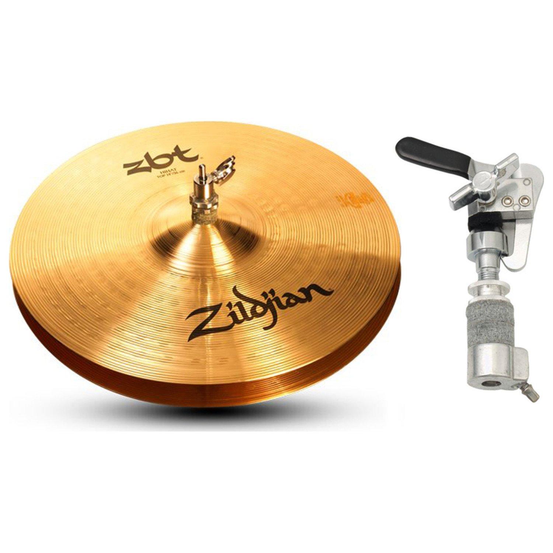 Zildjian ZBT 14 Inch Hi-Hat Cymbals with Gibraltar SCDC Hi-Hat Drop Clutch