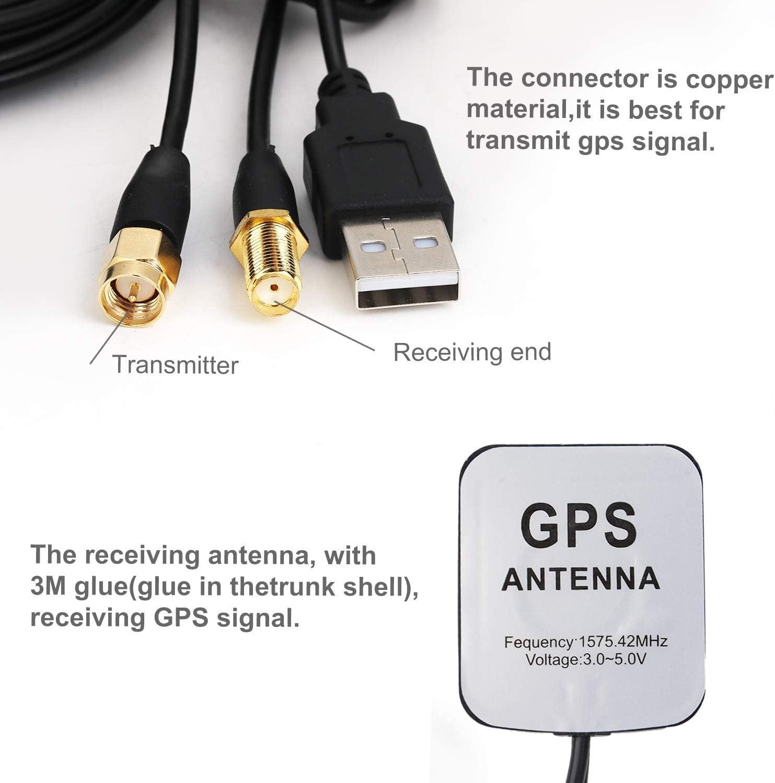 Fansport Amplificador de la señal del Coche Adhesivo Universal ...