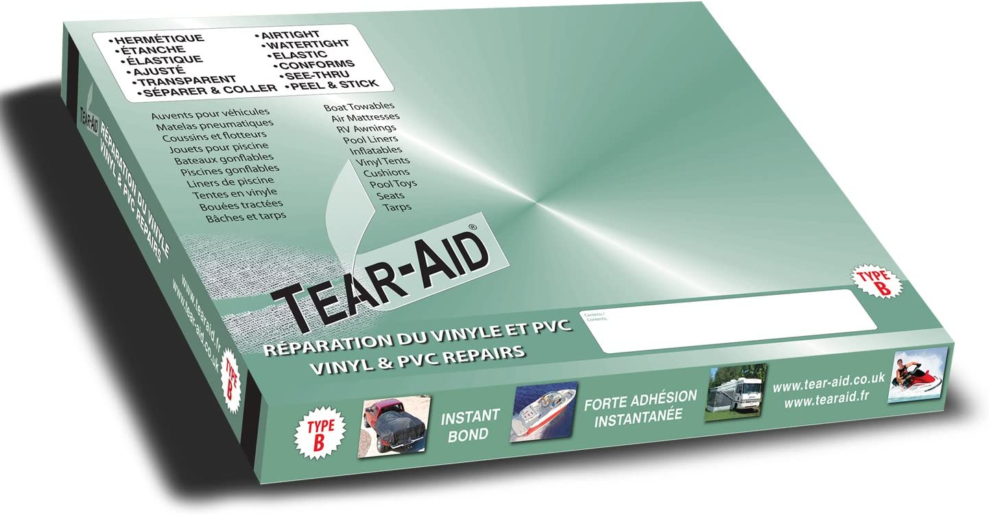 Tear-Aid Type B Bande de 15 cm x 150 cm pour la r/éparation instantan/ée de vinyles et de PVC
