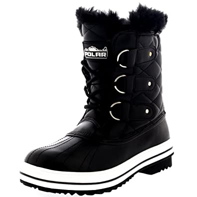 ea255c83600b Polar Womens Snow Boot Quilted Short Winter Snow Rain Warm Waterproof Boots  - 7 - BLL38