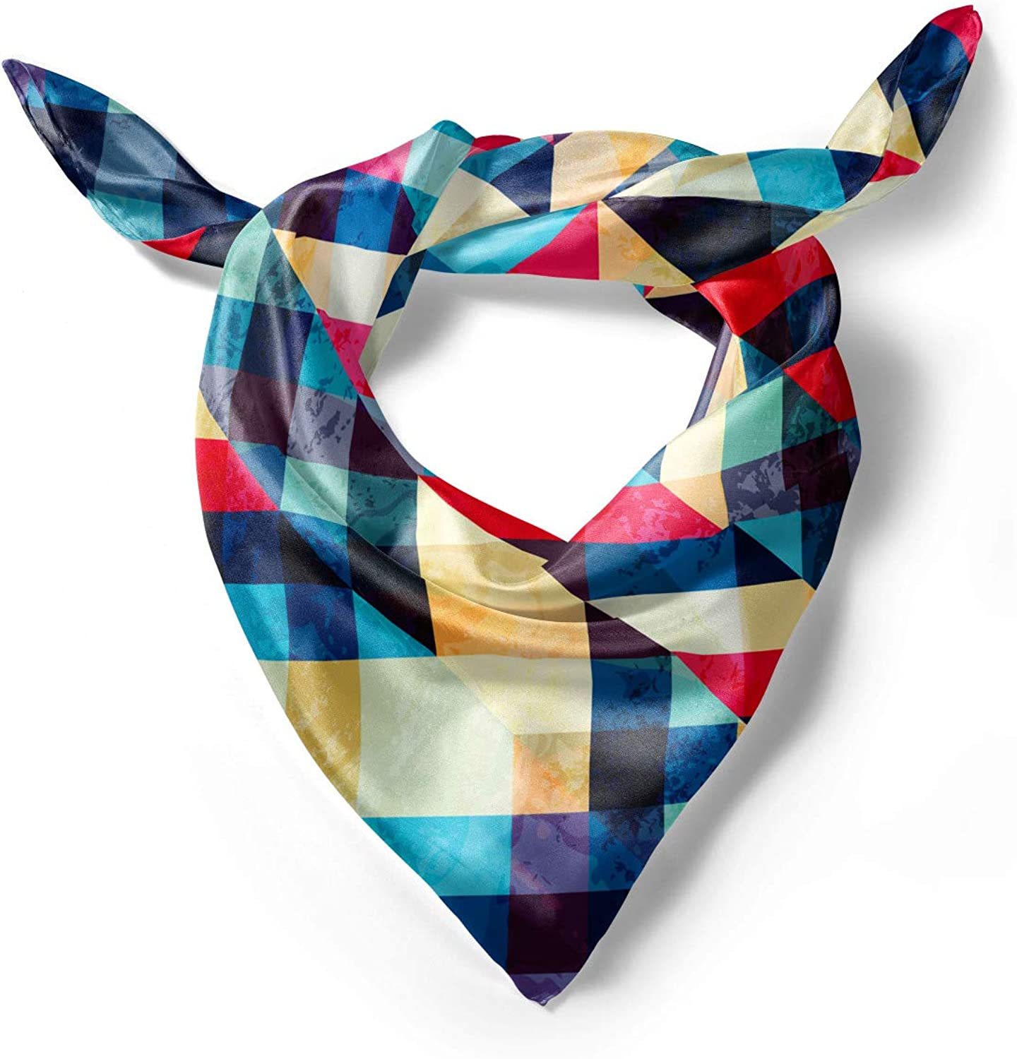 Ambesonne Chevron Head Scarf Downward Parallel Lines Hair Wrap