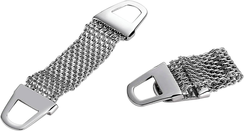 KnSam Stainless Steel Cufflinks for Mens Mesh Wrap Hollow Silver Cufflinks Buckle Cufflinks Accessories