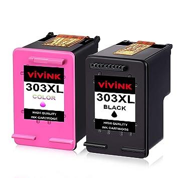 VIVINK 303 - Cartuchos de Tinta de Repuesto para HP 303XL, Color ...