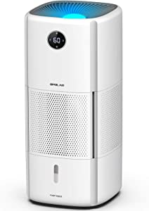 OPOLAR Whole-House Large Humidifier for Home, Evaporative Room Humidifier W/Filters, 2.6Gal Tank Lasts 8-22Hrs, Preset Humidity, Top Fill, Mist-Free, Sleep Mode, Large Ouput for Commercial Use