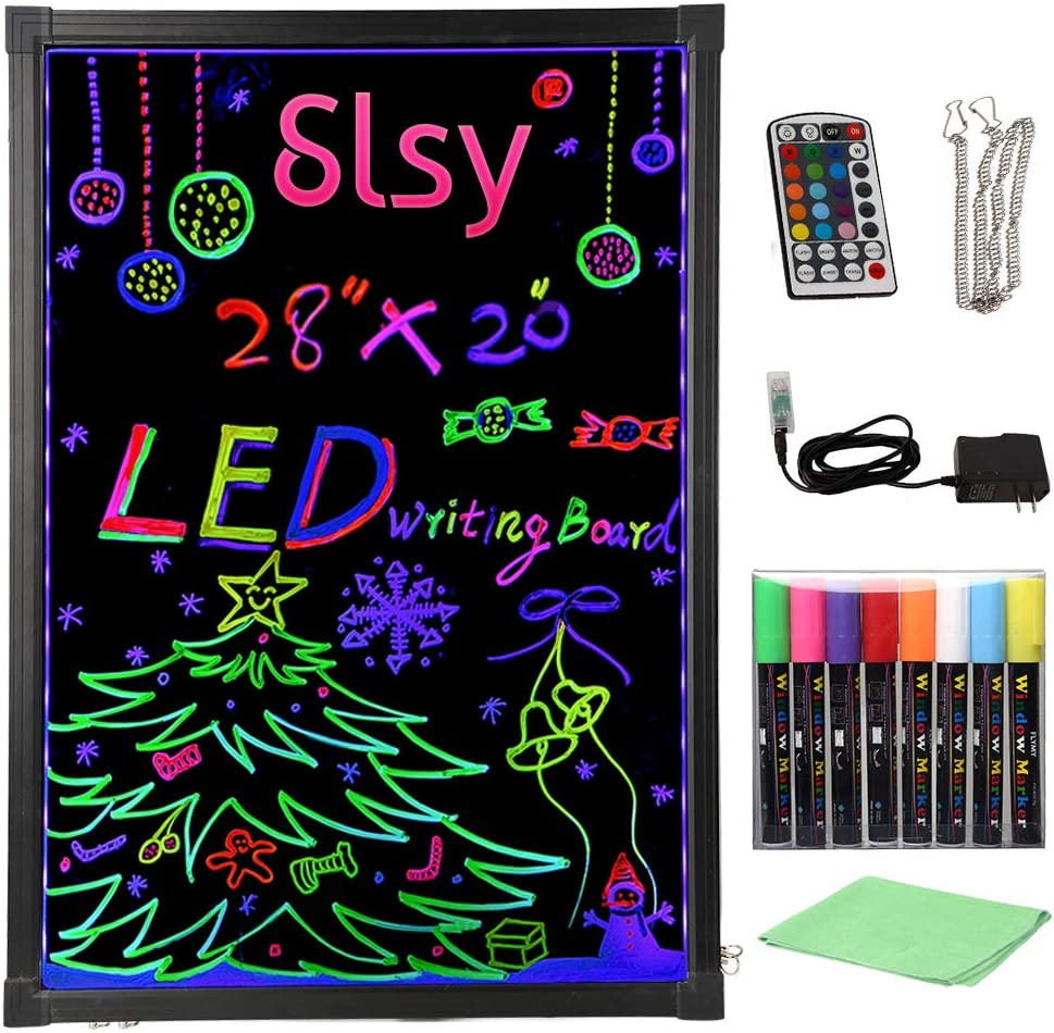 Retro LED Pegboard 80s style light up message board make your own sign