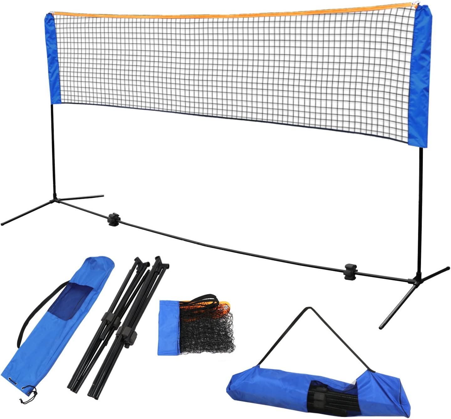 20ft Foldable Badminton Net Outdoor Volleyball Professional Training Sport Gift