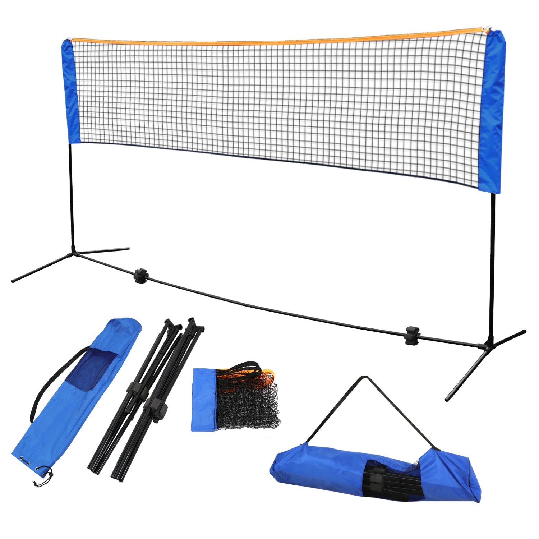 F2C Instant Setup Portable 10FTX 5FT Badminton Net Set Kids' Volleyball Soccer Tennis Pickleball Net Set W/Steel Frame Stand Freestanding& Carrying Bag Indoor Outdoor Court Bench Driveway Gym