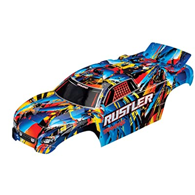 Traxxas 3748 Body Rustler Rock n' Roll (Painted Decals Applied): Toys & Games