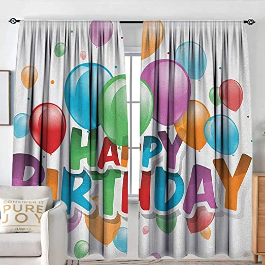 Cortina para ventana de cumpleaños con diseño abstracto de ...