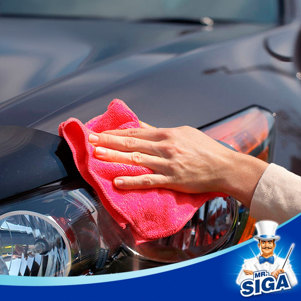 MR.SIGA Microfiber Cleaning Cloth Size:12.6 x 12.6 Pack of 24
