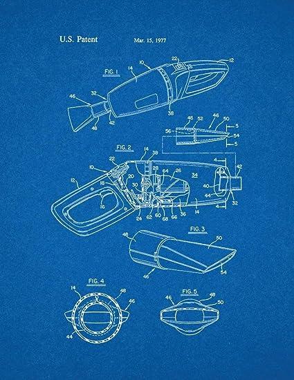 Amazon cordless vacuum cleaner patent print art poster cordless vacuum cleaner patent print art poster blueprint 11quot malvernweather Image collections