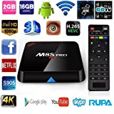 Rupa M8S Pro TV Box Amlogic S905 Quad core 2G/16G APPs Fully Loaded Dual Band 2.4G/5G AP6330 1000M Android 5.1 Smart t TV BOX