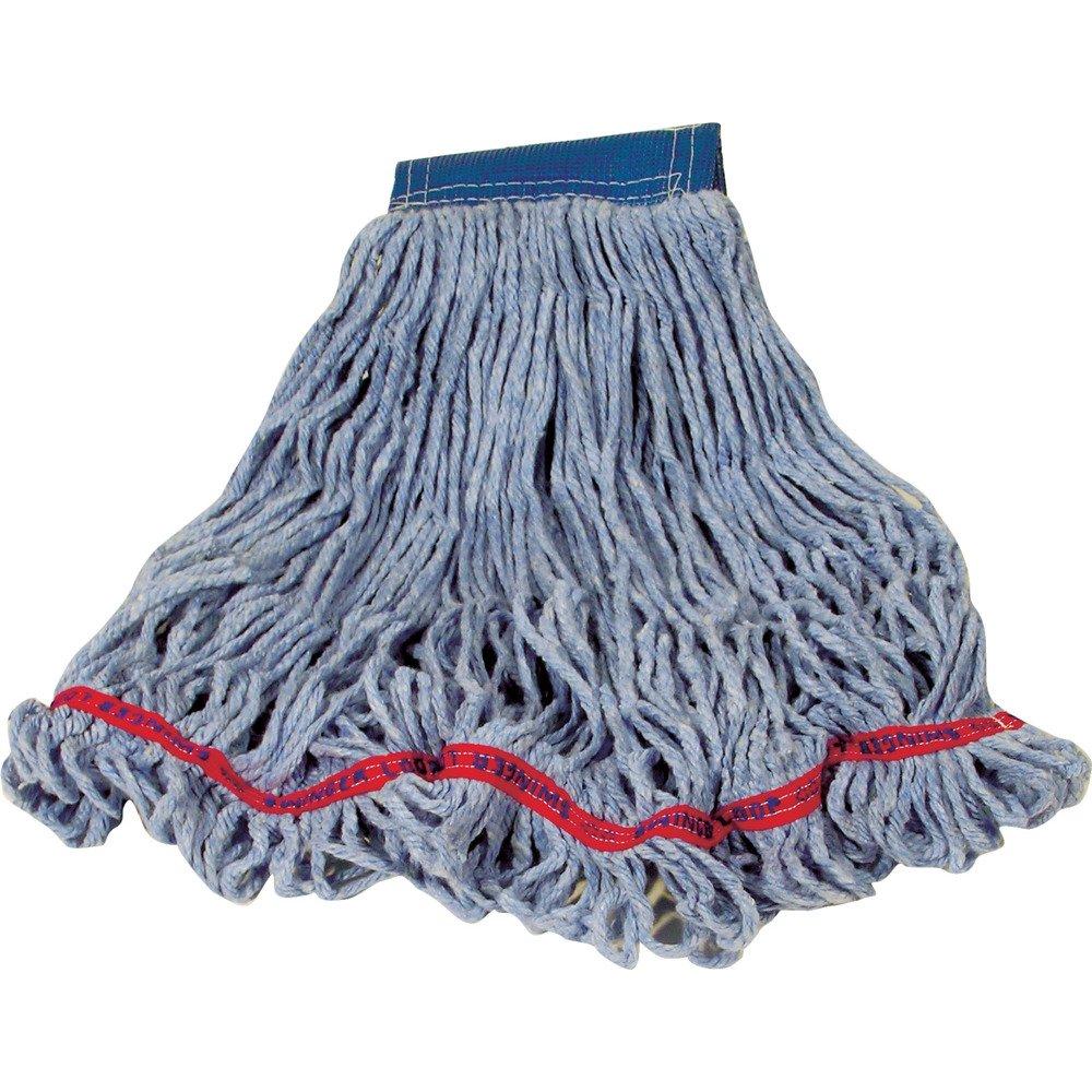 Rubbermaid Commercial Swinger Loop Wet Mop, Medium, 5-Inch Green Headband, Blue (FGC15206BL00)