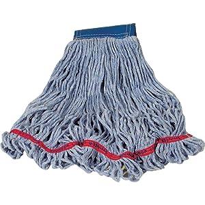 Rubbermaid Commercial Swinger Loop Wet Mop Head, Blue, FGC15206BL00