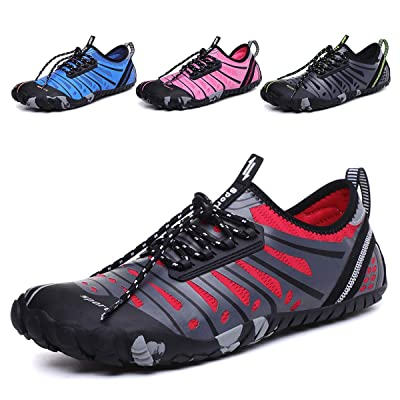 DoGeek Water Shoes Men Women for Aqua Surf Beach Wetsuit Trainers Lightweight Mesh Breathable Sandals (Choose One Larger Size) | Water Shoes
