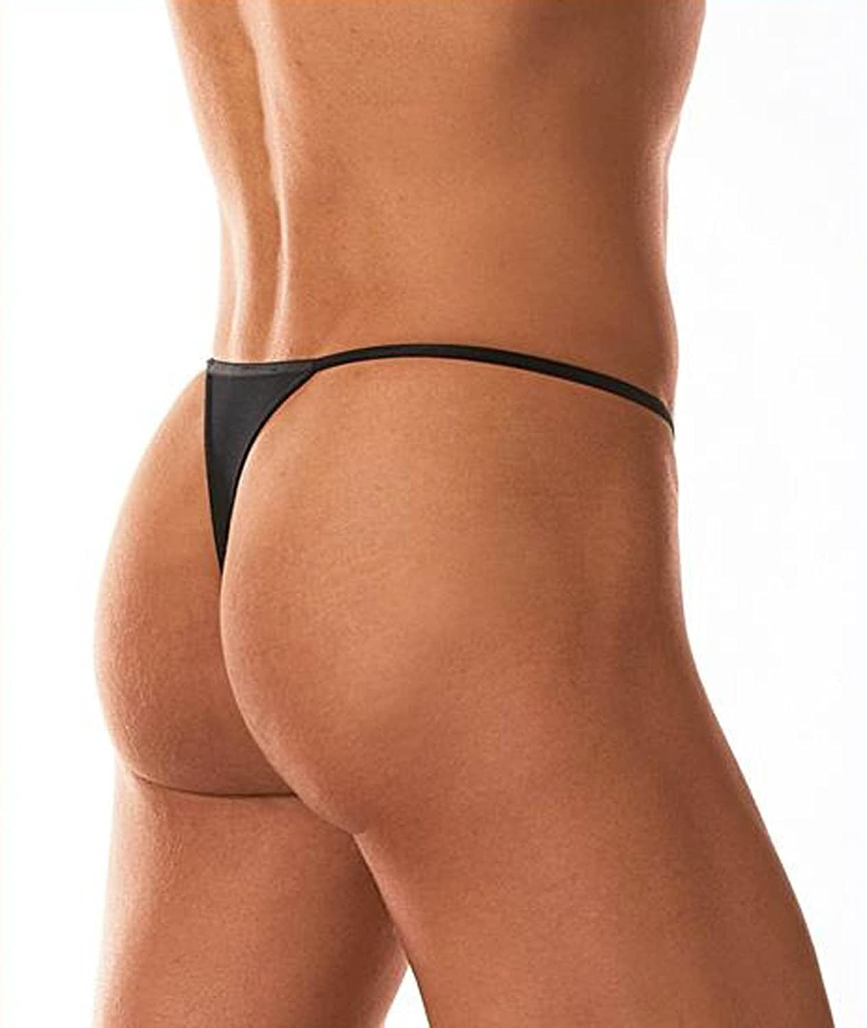 9a553ab3f7d1 HOM Plume 2 Pack Designer Mens Sexy Microfibre Lycra G String Tanga Thong  Pouch Underwear Black X large: Amazon.co.uk: Clothing