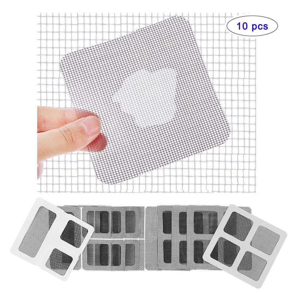 10pc Screen Repair Patch Window and Door Screen Repair Patch Adhesive Repair Kit