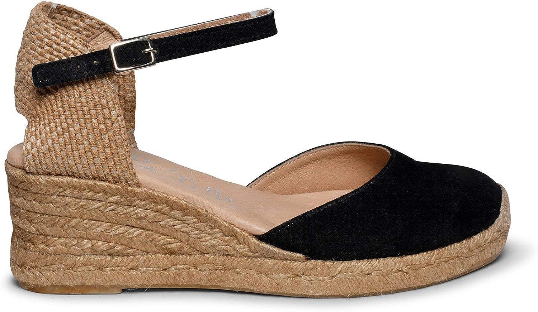 Zapatos miMaO. Zapatos Piel Mujer Hechos EN ESPAÑA. Cuñas Esparto ...