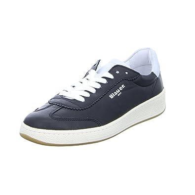 Blauer Damen Sneaker Sneaker Sneaker 8SOLYMPIA02 Schnürer Leder Schwarz  Amazon  ... 3b7547
