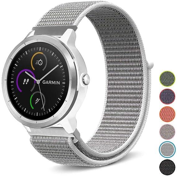 C2D JOY Compatible with Garmin vivoactive3(Music)/vivomove(HR)/FR645 Replacement Bands GPS Smartwatch Sport Loop Band Soft, Breathable Nylon Weave ...