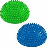 2er-Set Balance-Kugeln »Igel« zur Steigerung der Balance / Koordination. Ideal für Balance-Training 320g zirka 8cm hoch und 16cm Durchmesser in blau, rot, türkis oder schwarz.