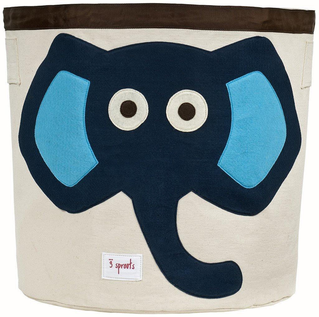3 Sprouts Storage Bin, Blue Elephant Lulujo ELEPHANT BLUE