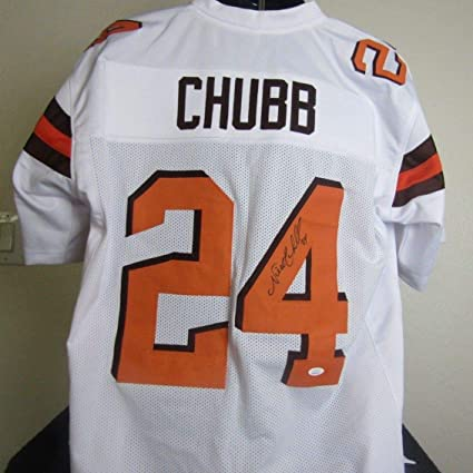 low priced 70ed3 0a037 NICK CHUBB AUTOGRAPHED SIGNED CLEVELAND BROWNS JERSEY at ...