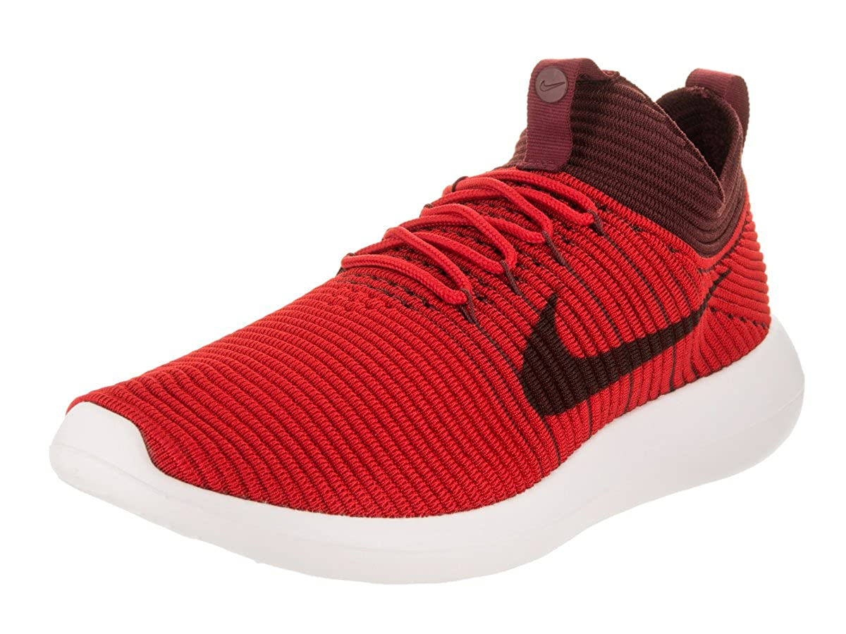 competitive price 86f45 f2fa8 Nike Roshe Two Flyknit V2 Mens Running-Shoes - University Red Dark Team Red   Amazon.in  Clothing   Accessories