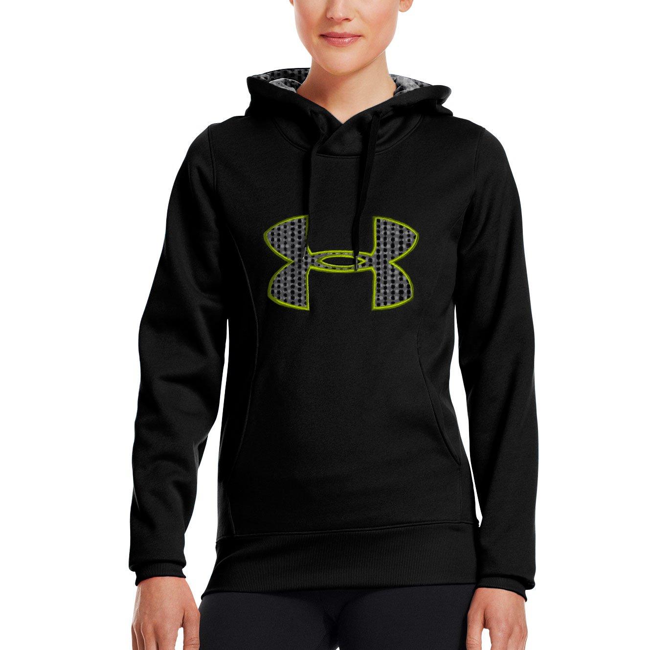 Under Armour Womens Fleece Storm Big Logo Hoody Black//Pinkadelic//Strobe